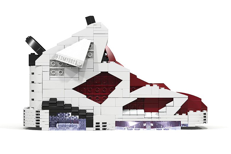 Air Jordan sneakers by Tom Yoo Lego