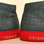 HIGH TOP SNEAKERS BLUE NUBUCK WITH RED SOLE hide&jack