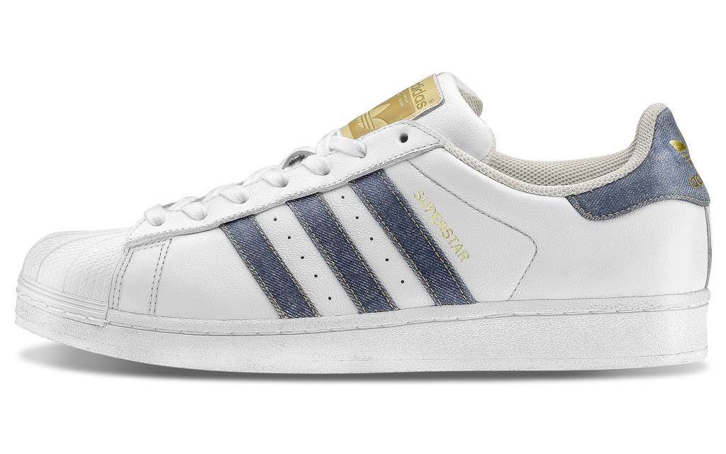 adidas superstar denim